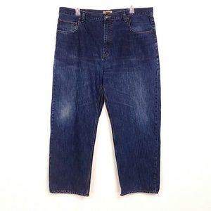 Foundry Mens Faded Jeans Straight Leg Z36